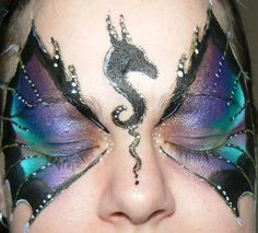 Dragon Eyes Face Paint