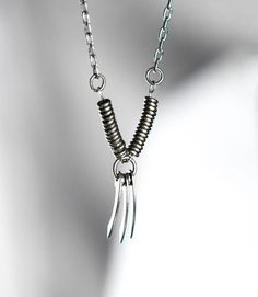 Wolverine X-Men Inspired African Silver Necklace with Custom Designed Blades on Etsy, $22.92 AUD
