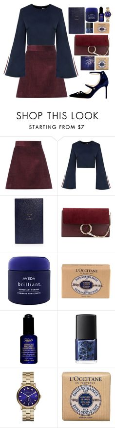 """2222"" by mariimontero ❤ liked on Polyvore featuring Miu Miu, Smythson, Chloé, Aveda, L'Occitane, Kiehl's, NARS Cosmetics, Marc by Marc Jacobs and Polaroid"