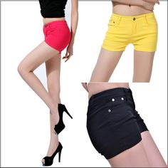 Women Neon Casual shorts