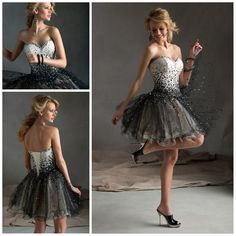 2014 Sweetheart Ball gown Bandage Short bling Homecoming dress Lovely graduation dress Pretty Party dress Prom gown