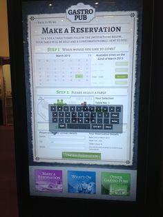 Touch Screen Table Reservation section of Digital Menu Board by Eclipse Digital Media. http://www.eclipsedigitalmedia.co.uk/embed