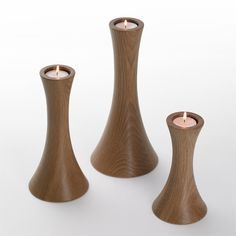 Scoop Candle Holders | Wooden Candle Holders | Simply Tabletop UK