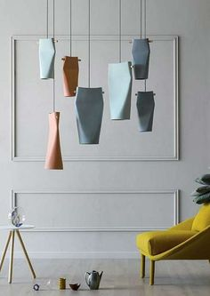 Ceramic pendant lamp 'Dent' -   Manufacturer Miniforms design by Skrivo