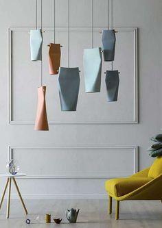 Ceramic pendant lamp 'Dent' -   Manufacturer Miniforms design by Skrivo