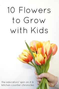 10 Flowers to Grow with Kids and the reasons WHY each are amazing by @Jen at KitchenCounterChronicle.com .  Flowers to smell, flowers to dry, flowers to touch.  What flower would you plant with your child.  Stop by to see if your favorite made the list!