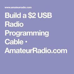 Build a $2 USB Radio Programming Cable • AmateurRadio.com Ham Radio, Programming, Cable, Usb, Messages, Hams, Survival Kits, Electronics, Cabo