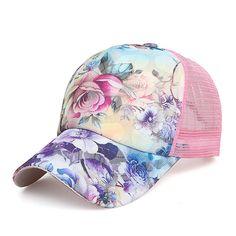 Spangle Shape Pattern Fabric Summer Mesh Stylish Snapback Hat Men Women Cap New