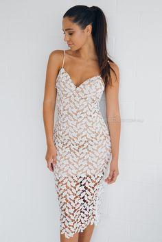 sue lace dress - ivory