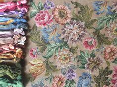 Needlepoint Pillows, Needlepoint Canvases, Stitch Kit, Photo Canvas, Vintage Prints, Decorative Pillows, Needlework, Cushions, Tapestry