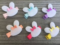 Easter Bow / Easter Hair Clip / Easter Small by TwoLittleBowBabies