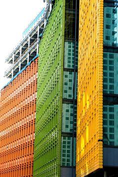 Renzo Piano Building, London #Architecture Colour Architecture, London Architecture, Beautiful Architecture, Contemporary Architecture, Architecture Details, Interior Architecture, Contemporary Art, Unusual Buildings, Colourful Buildings