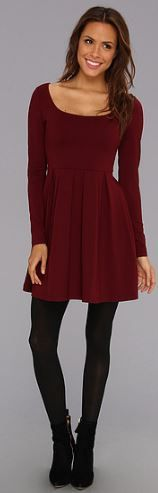 dress with leggings--I like the boots with this