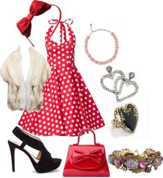 """""""50's retro outfit"""" by bigappler ❤ liked on Polyvore"""