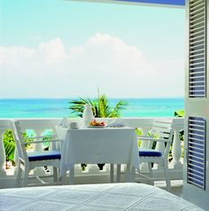 Breakfast for two with a view on the balcony of a Superior Balcony Suite. http://jamaicainn.com/accommodation.php