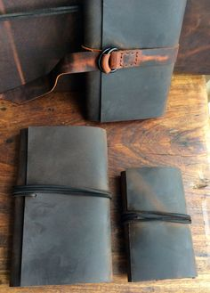 Dirty Chai Leather journal refillable por LUSCIOUSLEATHERNYC
