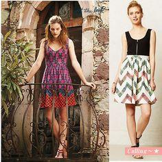 関税・送料込,梨花さん愛用BRAND! anthropologie Amapola Dress 印象的な柄のテキスタイルを使用したワンピースは、 フロントのジッパーがポイントとなったデザイン。