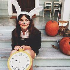 Super cute costume - bunny from Alice In Wonderland!