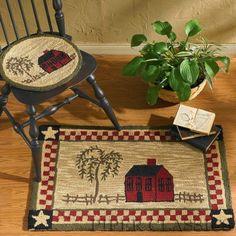 Homestead hooked rug