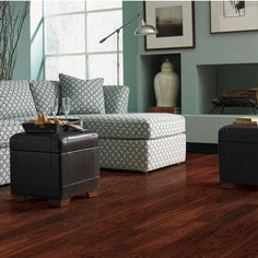 Hampton Bay Claret Jatoba 8mm Thick x 4-7/8 in. Wide x 47-1/4 in. Length Laminate Flooring (478.25 sq. ft. / pallet)-HD505-P at The Home Dep...