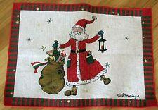 "1 Adorable Susan Winget ""Santa Tapestry"" Pillow Top Fabric Panel"