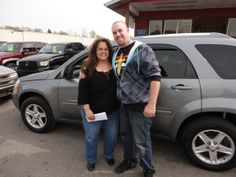 """Congratulations to Donna Mitchell """"pictured with her son Phillip"""" on the purchase of her AWESOME new Chevrolet Equinox! Enjoy your new ride Donna with a big thank you from The Auto Group! We appreciate the opportunity to earn your business!"""