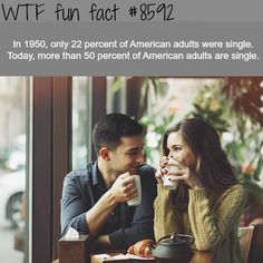 More adults are single today than ever - WTF fun facts