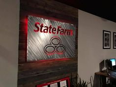 Signage State Farm Office, Office Ideas For Work, State Farm Insurance, Agency Office, Offices, Office Decor, Signage, Chelsea, Reception