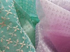 sheer flocked fabric