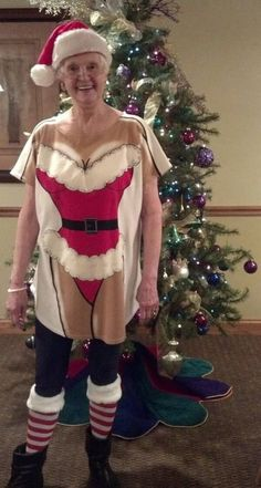 I'm doing this when I get old. BEST #christmas pajamas ever!