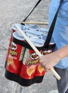 tambor, como fazer tambor para crianças, como fazer instrumentos musicais com sucata