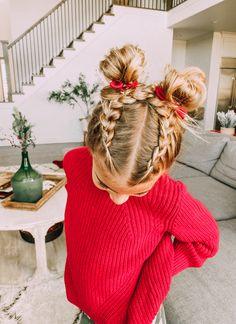 Little Girls Ponytail Hairstyles, Little Girl Ponytails, Cute Toddler Hairstyles, Girls Hairdos, Cute Girls Hairstyles, Girls Braids, Braids For Little Girls, Hairstyles For Toddlers, Braided Hairstyles For Kids