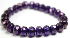 8x6 faceted rondelle Czech glass beads in metallic purple from abeadstore.com  $6.20 a strand - love these