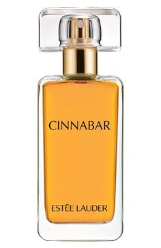 Free shipping and returns on Estée Lauder 'Cinnabar' Eau de Parfum Spray at Nordstrom.com. What it is: A warm, mysterious, endlessly appealing spicy scent.Fragrance story: Cinnabar blends jasmine, orange flower, clove and patchouli for an intense, sensual experience.Notes:- Top: jasmine, orange flower, tangerine.- Middle: clove, muguet, lily.- Base: olibanum, sandalwood, patchouli.- 1.7 oz.