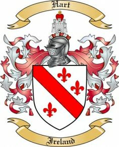 IRELAND - HART FAMILY CREST | We do have the Hart coat of arms / family crest from Ireland