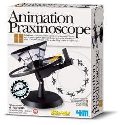 """This is a great gift idea I came across the other week. Kids can put together this kit to recreate how animation was done over 100 years ago. Everyone will be asking: """"What's a praxinoscope?"""""""