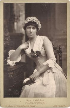 Lillie Langtry as Kate Hardcastle, in 'she stoops to conquer'