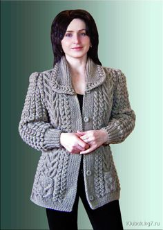 Cardigans With Brai - Diy Crafts - maallure Girls Sweaters, Baby Sweaters, Cardigans For Women, Jackets For Women, Ladies Cardigan Knitting Patterns, Knitting Patterns Free, Baby Knitting, Knitted Coat, Jacket Pattern