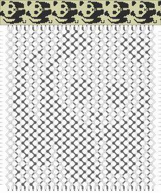 Friendship Bracelets Patterns: Panda Pattern
