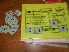 Math Tubs in Kindergarten: MORE Printing numbers