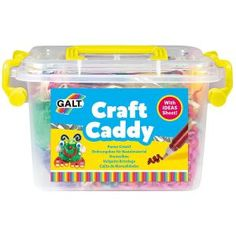 The Galt Craft Caddy is perfect for budding young artists. Eye Glitter Glue, Art Caddy, Wooden Dice, Foam Shapes, Shredded Paper, Toys Shop, Craft Materials, Creative Kids, Craft Items