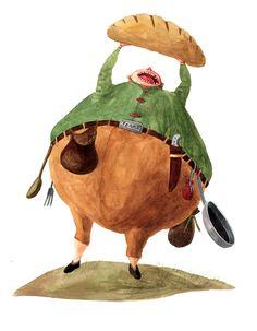 "Cristiana Radu illustration for ""Harap Alb - Romanian Fairytale"". Naive, Childrens Books, Rooster, Fairy Tales, Horses, Costumes, Animals, Illustrations, Art"