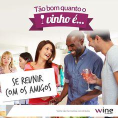Vinho + amigos reunidos = felicidade na certa! #wine #vinho #happy #friends #amigos