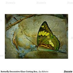 "Butterfly Decorative Glass Cutting Board 11""x8"""