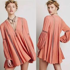 SOLD NWT Size Small ❌No Trades or Lowball Offers ❌100% AUTHENTIC Beautiful Flowey Top in Soft Coral. Any questions please ask Free People Tops Tunics