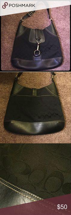 Authentic Coach Purse/Shoulder Bag Great condition, black Coach Purse, Authentic!!! Coach Bags Hobos