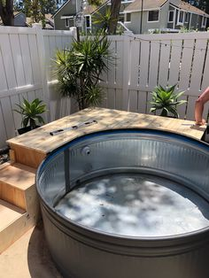 Our stock tank pool {part two} Stock Pools, Stock Tank Pool, Mini Pool, Piscina Diy, Diy Swimming Pool, Plunge Pool, Backyard Makeover, In Ground Pools, Backyard Patio