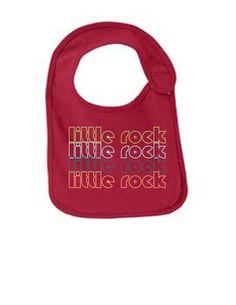Little Rock Arkansas Retro Funny Infant Jersey Bib