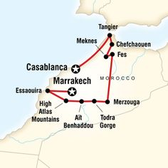 Map of Highlights of Morocco