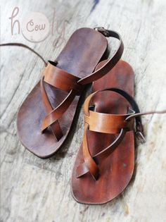 Womens Sandals Mens Leather Sandals Hippie Sandals Leather Sandals Women Flip Flops - Men Sandals - Ideas of Men Sandals - Beautiful Handmade Brown Leather Sandals by HolyCowproducts Brown Leather Sandals, Mocassins, Huaraches, Leather Men, Men's Shoes, Boho Shoes, Flip Flops, Footwear, Mens Fashion